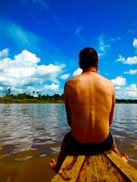 Un tuffo nel Rio Ucayali